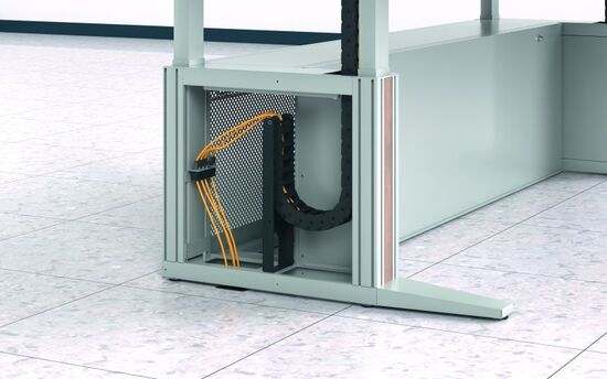 Für die Installation von max. fünf RJ45 Keystone Elementen