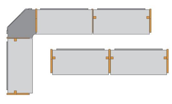 Die Modulbauweise ermöglicht vielfältige Konfigurationen und garantiert höchste Flexibilität.