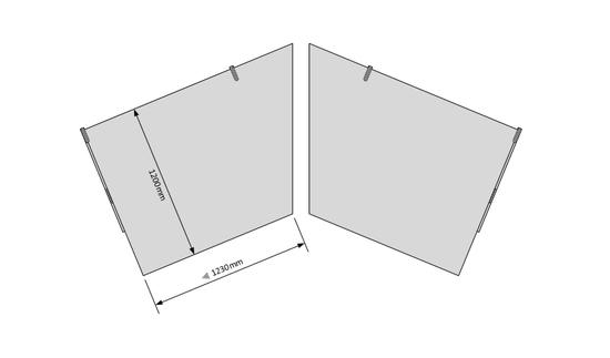 Bild von TISCHPL BASISKOMBINATION T1200 ABGESENKT 45°