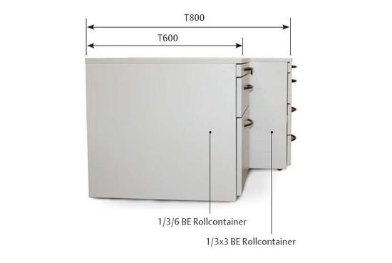 Bild von ROLLCONTAINER T600 1/2x2/3 BE