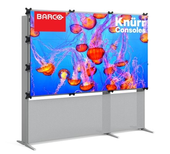 Monitorwand freistehend mit 9 Barco UniSee (3x3)