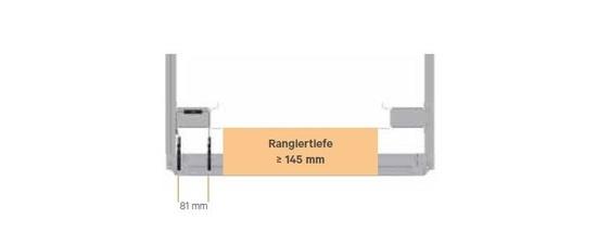 verwendbar ab Rangiertiefe 145 mm