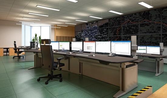 Planungsbeispiel mit Monitorwand 8x3